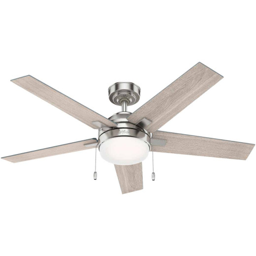 Hunter Bartlett 52 In. Brushed Nickel Ceiling Fan with Light Kit