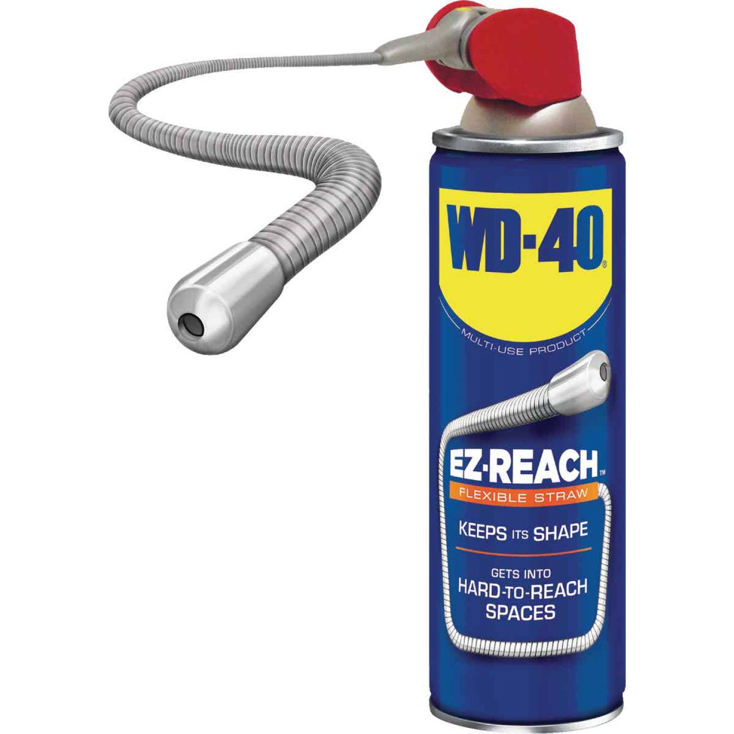 WD-40 14.4 Oz. Aerosol Multi-Purpose Lubricant with EZ Reach 8 In. Metal Straw Image 2