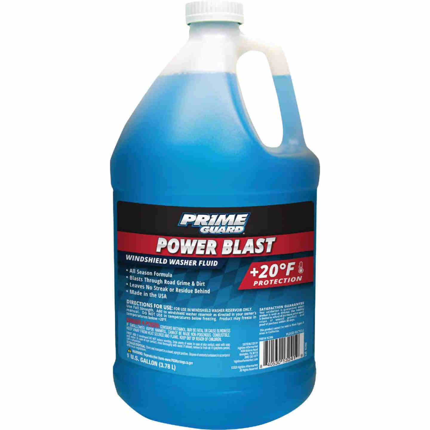 Prime Guard Power Blast Gallon +20 Deg F Temperature Rating Windshield Washer Fluid Image 1