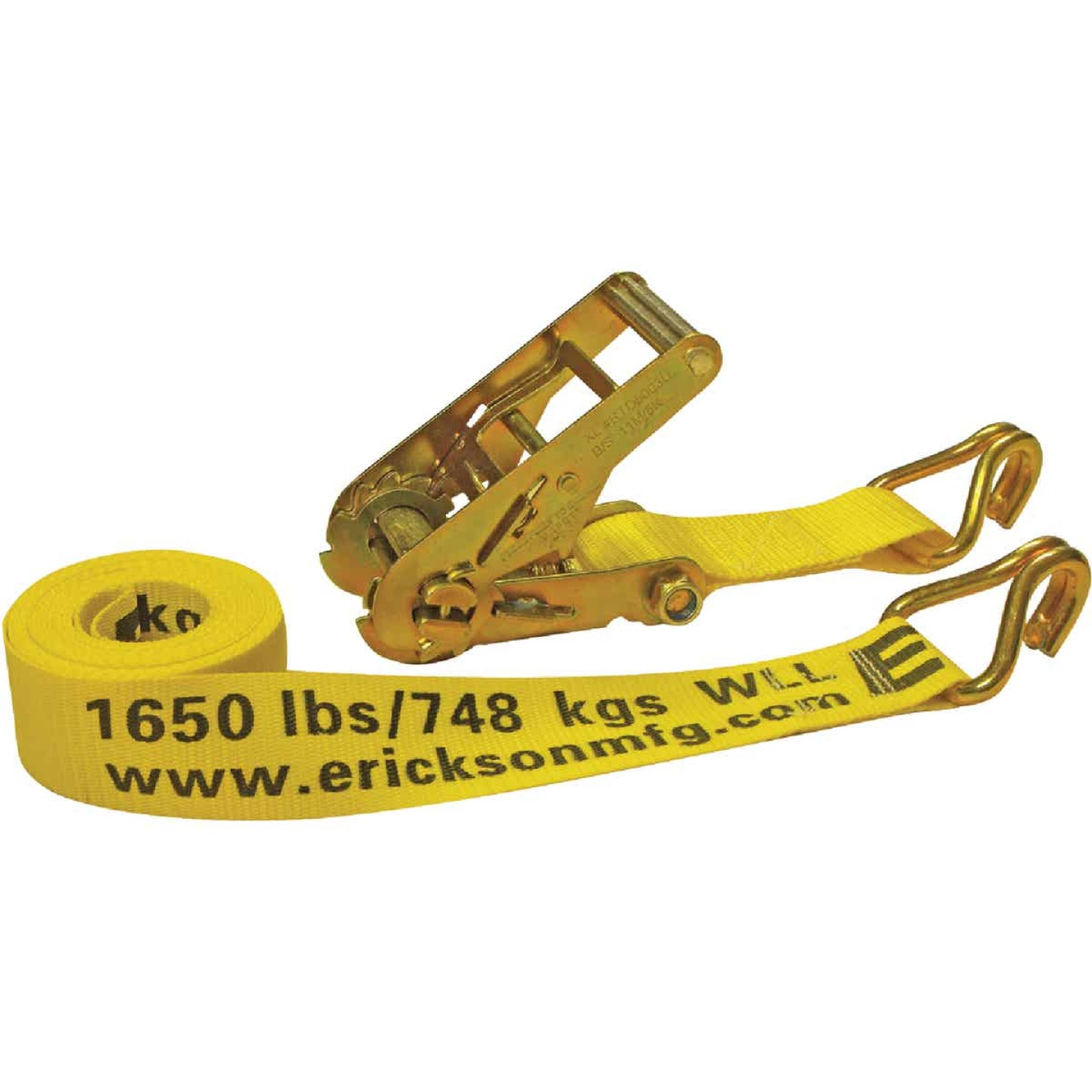 Erickson 2 In. x 15 Ft. 5000 Lb. Heavy-Duty Ratchet Strap Image 1