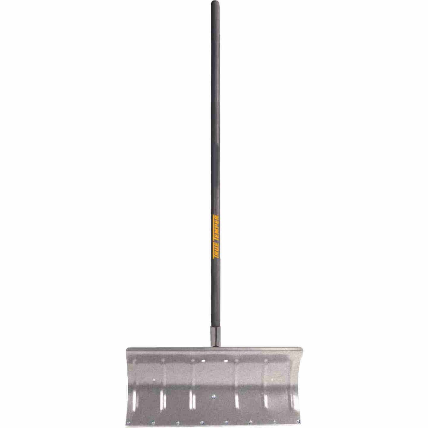 True Temper 24 In. Aluminum Snow Pusher with 48 In. Wood Handle Image 1