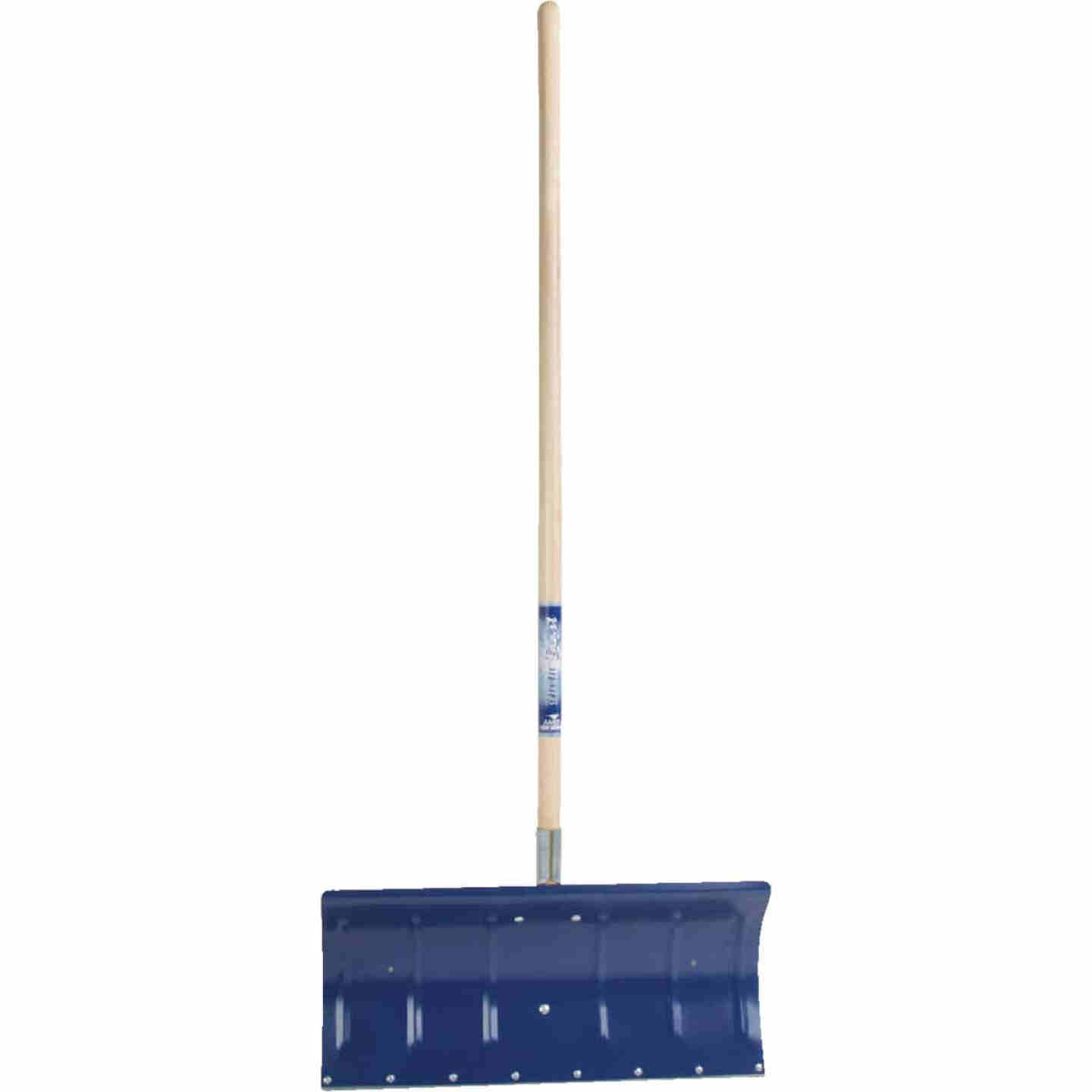 True Temper 24 In. Aluminum Snow Pusher with 48 In. Wood Handle Image 2