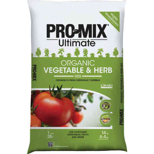 Pro Mix Ultimate 1 Cu. Ft. 14-1/2 Lb. Container Vegetables & Herbs Garden Soil