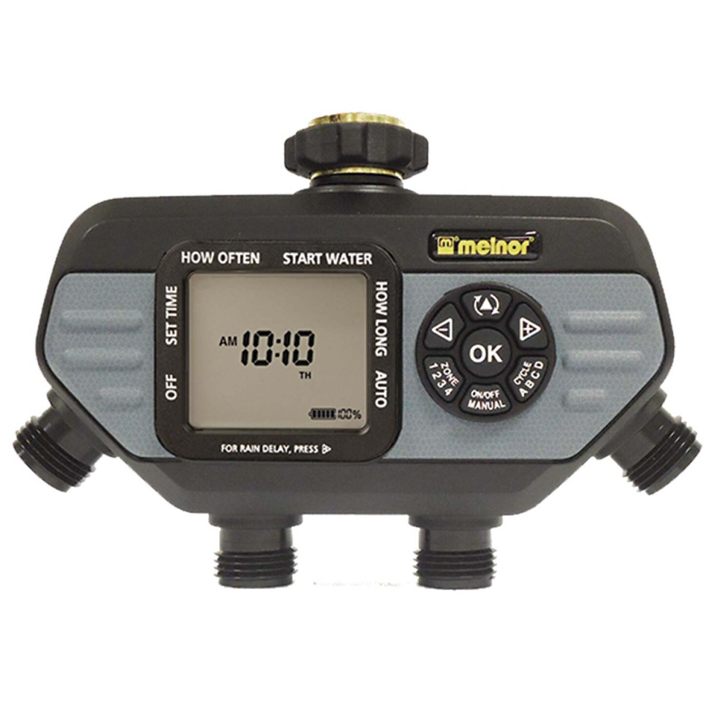 Melnor Hydrologic Electronic 4-Zone Day Specific Programmable Water Timer Image 1