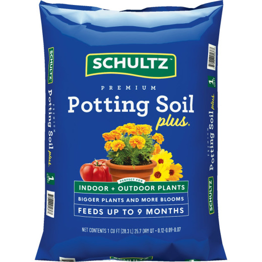 Schultz Premium 1 Cu. Ft. All Purpose Indoor & Outdoor Potting Soil Plus