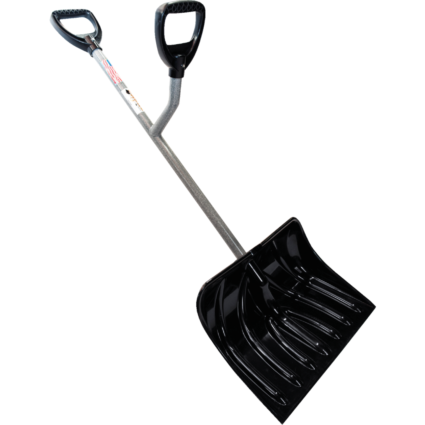 Ergieshovel 18 In. Poly Snow Shovel with 36.25 In. Steel Handle Image 1