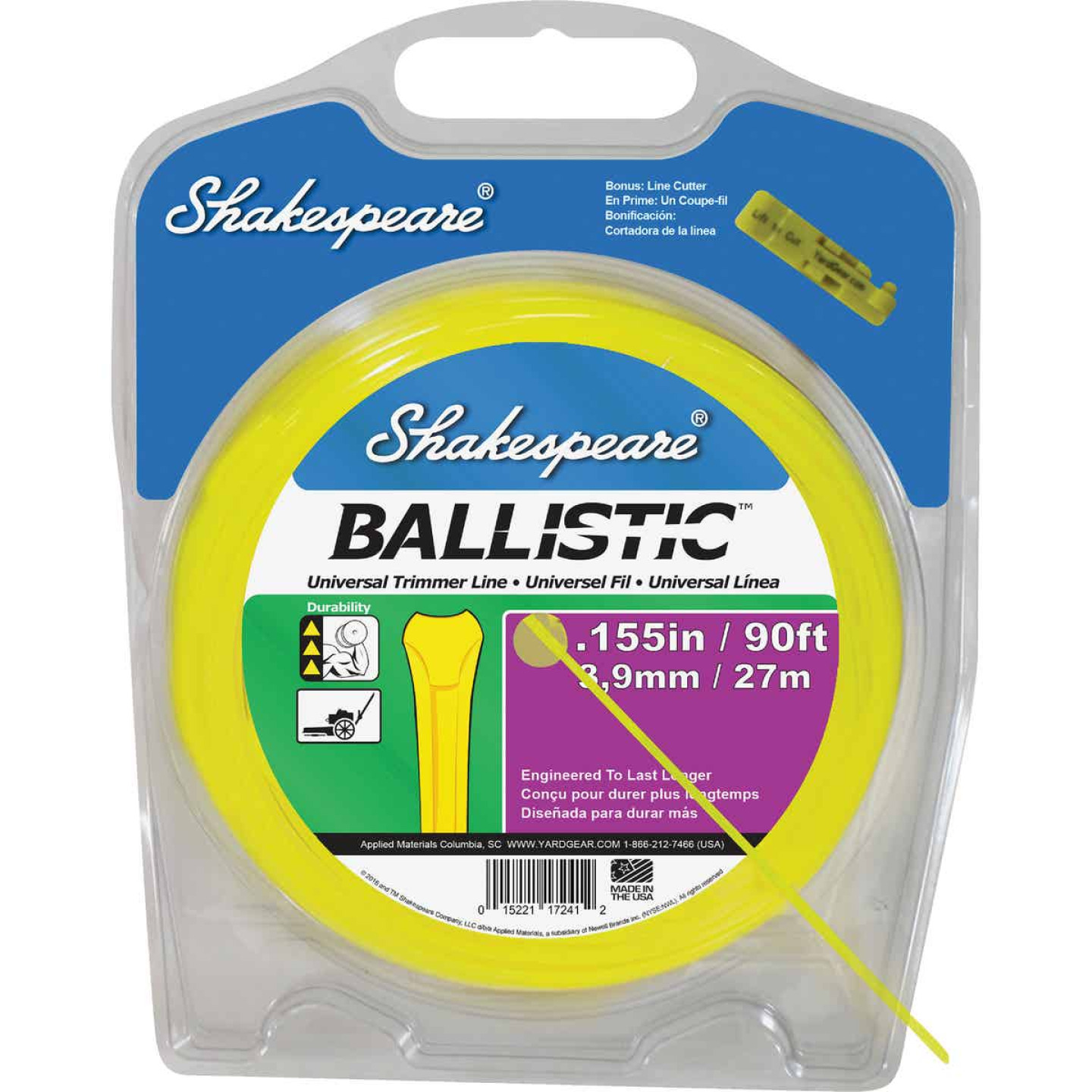 Shakespeare Ballistic 0.155 In. x 90 Ft. Universal Trimmer Line Image 1