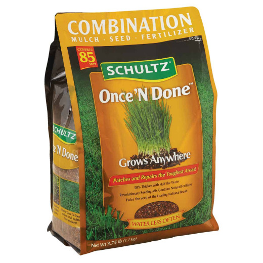 Schultz Once 'N Done 3.75 Lb. 85 Sq. Ft. Coverage Sun & Shade Grass Patch & Repair