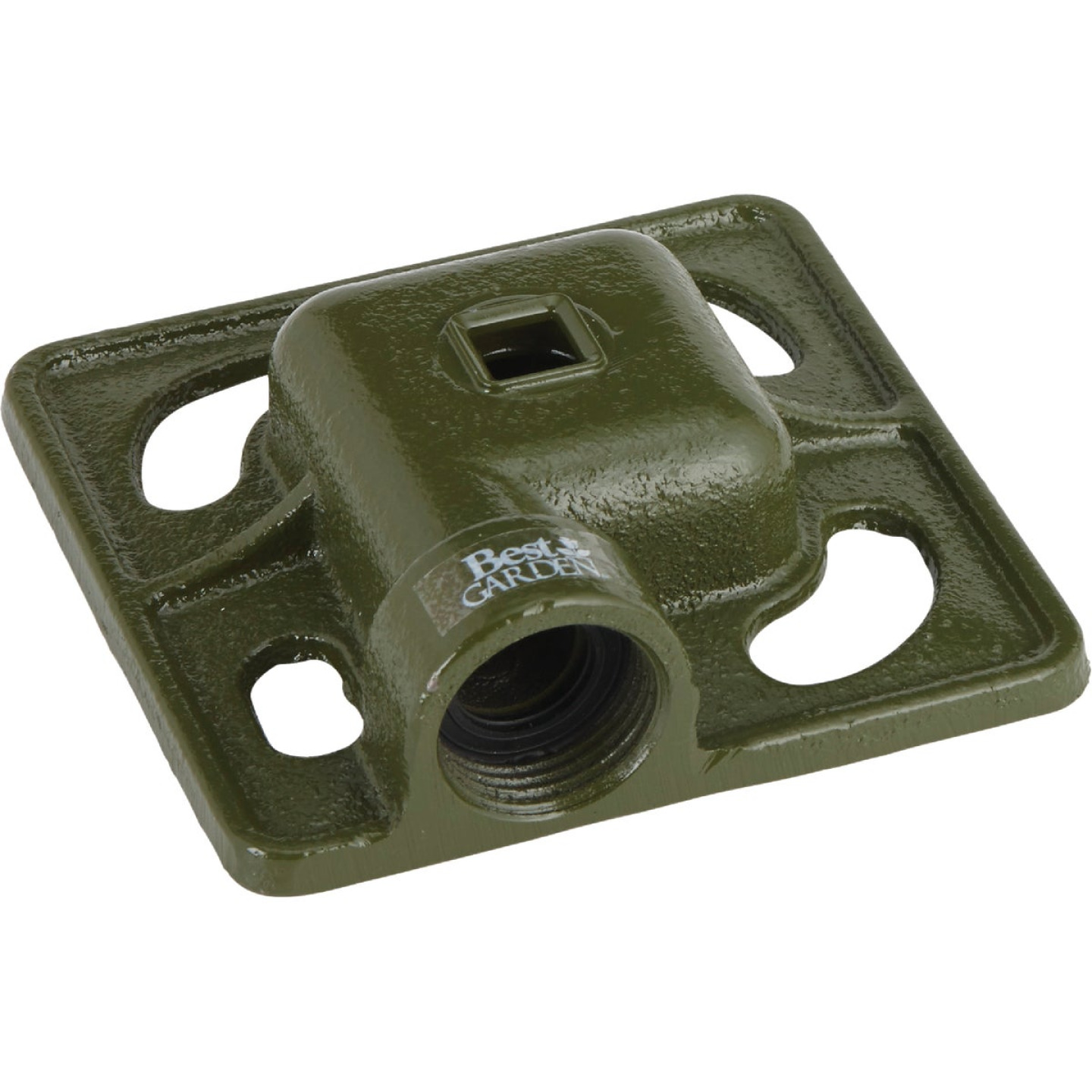 Best Garden Metal 30 Ft. Dia. Square Stationary Sprinkler, Green Image 1
