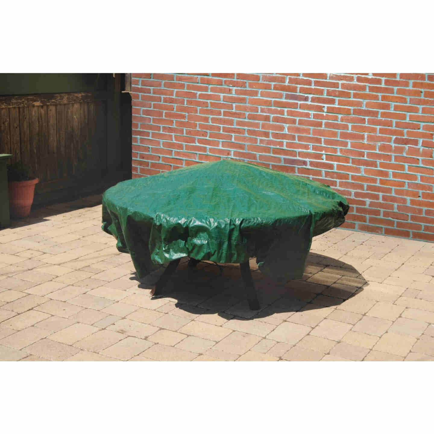 Do it Best  6 Ft. x 6 Ft. Poly Fabric Green Lawn Cleanup Tarp Image 5