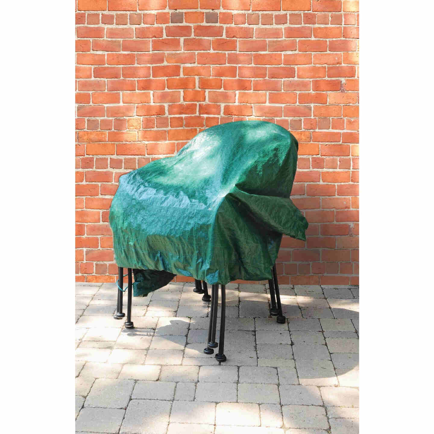 Do it Best  6 Ft. x 6 Ft. Poly Fabric Green Lawn Cleanup Tarp Image 6