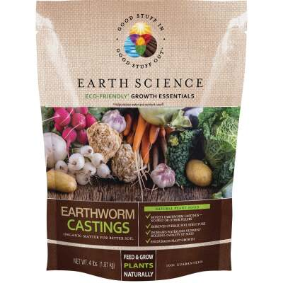 Earth Science 4 Lb. Earth Worm Castings Soil Conditioner