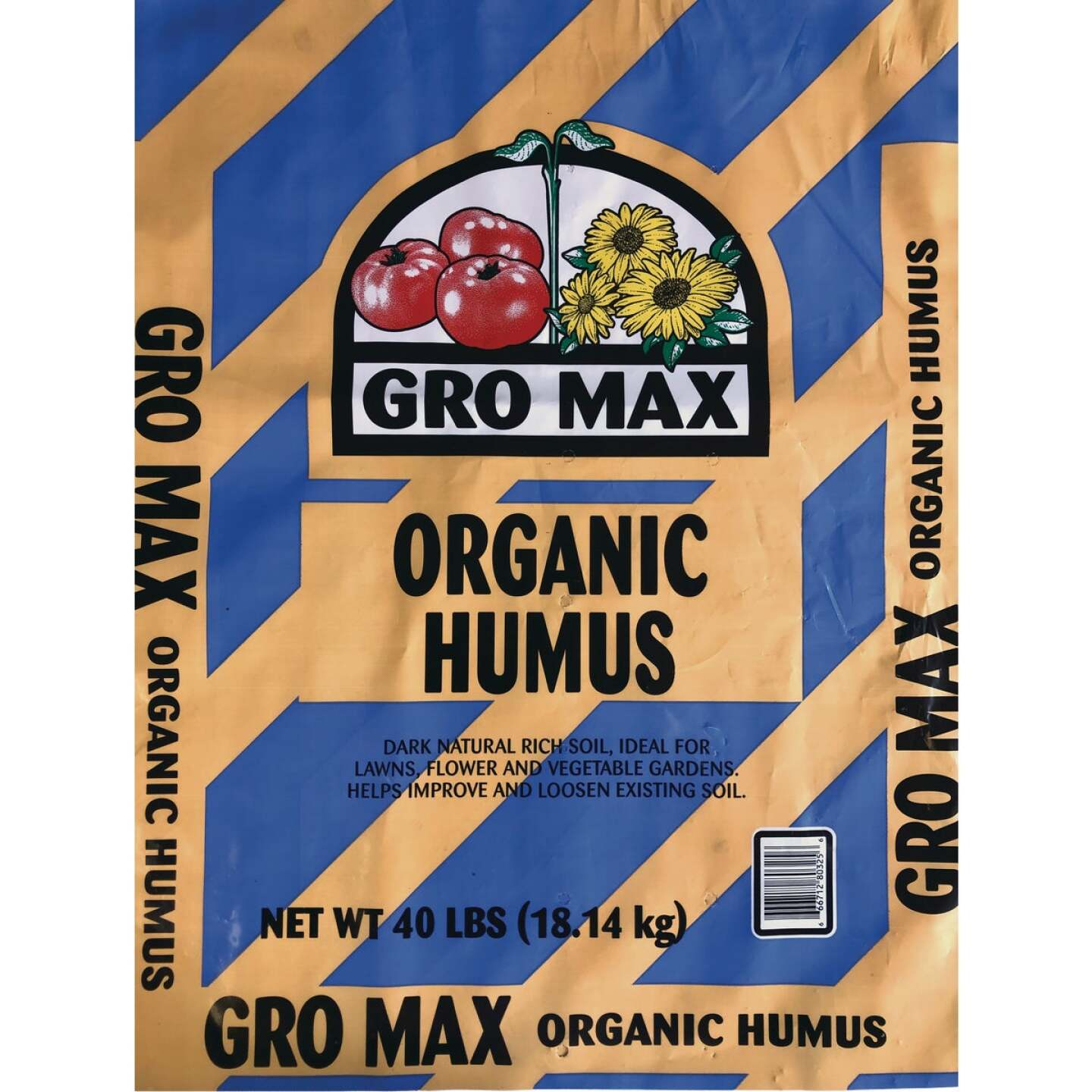 Gro Max 40 Lb. 4 Sq. Ft. Coverage Humus & Manure Image 1