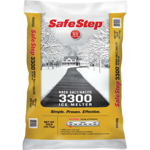 Safe Step 3300 50 Lb. Rock Salt/Halite Ice Melt Large Pellets
