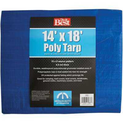 Do it Best Blue Woven 14 Ft. x 18 Ft. Medium Duty Poly Tarp