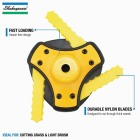 Shakespeare Push-N-Load 3-Blade Fixed Feed Universal Shaft Replacement Trimmer Head Image 4
