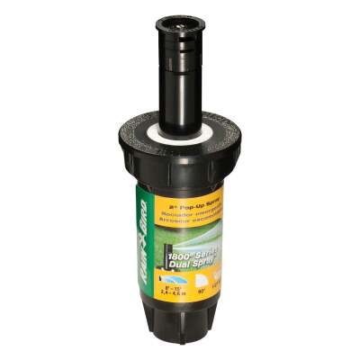 Rain Bird 2 In. Quarter Circle Dual Spray Pop-Up Head with Pressure Regulator