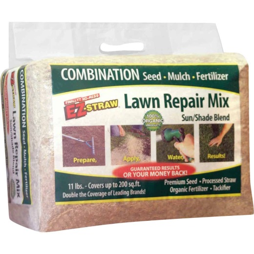 EZ Straw 11 Lb. 200 Sq. Ft. Coverage Sun & Shade Organic Lawn Repair Mix