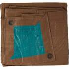 Do it Best 1 Side Green/1 Side Brown Woven 16 Ft. x 20 Ft. Medium Duty Poly Tarp Image 3