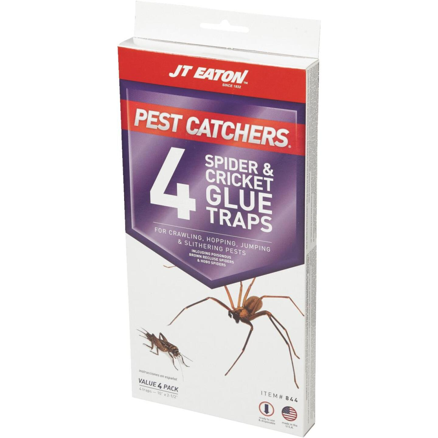 JT Eaton Pest Catchers Indoor Glue Cricket & Spider Trap (4-Pack) Image 3