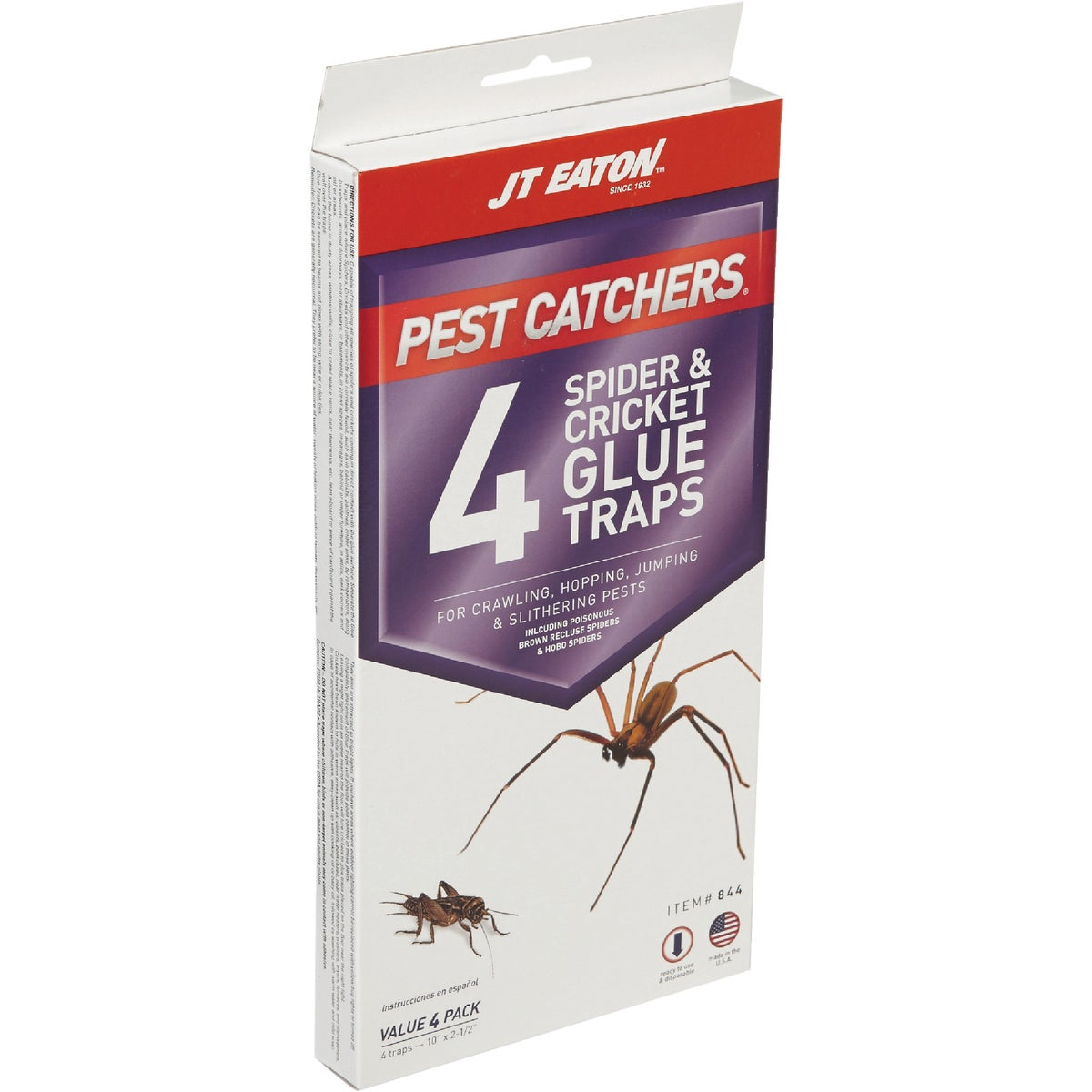 JT Eaton Pest Catchers Indoor Glue Cricket & Spider Trap (4-Pack)